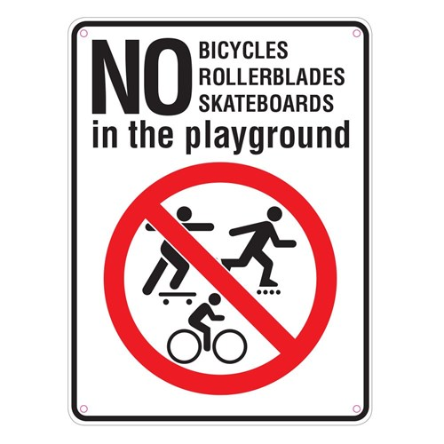 Standard School Sign Pack - No Bicylces