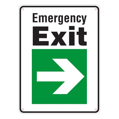 Standard School Sign Pack - Emergency Exit Right