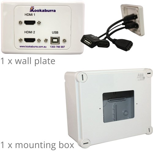 Cable Kit 2m & Wall Plate HDMI -DisplayPort Interactive Panel