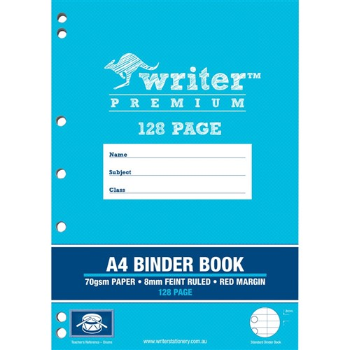 Writer Premium Binder Book A4 8mm Ruled