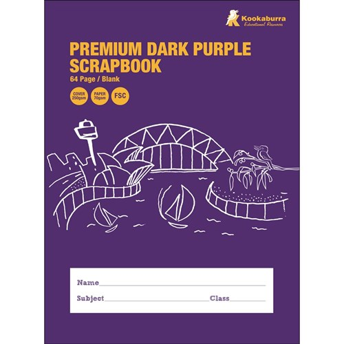 Scrapbook 330x245mm FSC Dark Purple 70gsm 64 pg