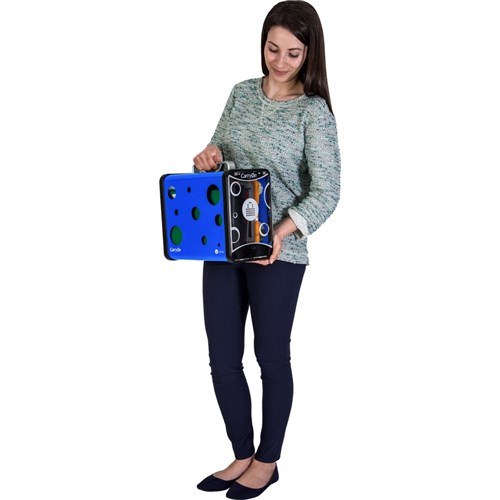 PC Locs CarryOn Mobile Tablet Charge & Store 5 Bay Blue