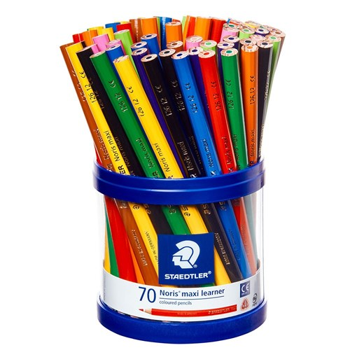 STAEDTLER Noris Maxi Learner Coloured Pencils + Storage Cup