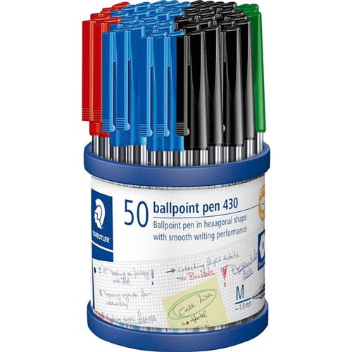 STAEDTLER Stick 430 Ballpoint Pen Medium Asst