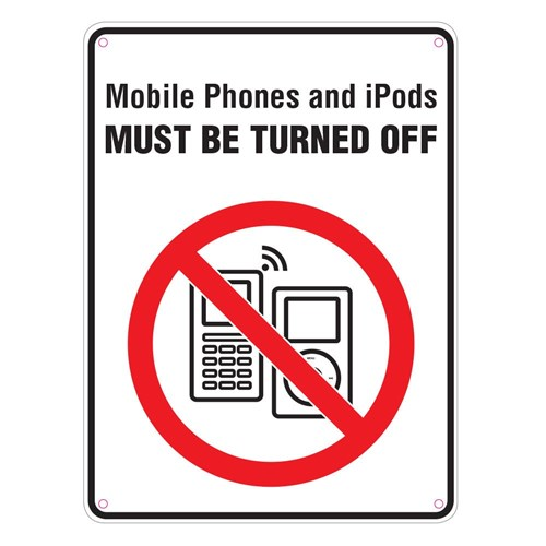 Standard School Sign - Mobile Phones Off