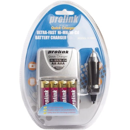 Prolink Battery Charger Super-Fast 2-3 Hrs AA/AAA Only