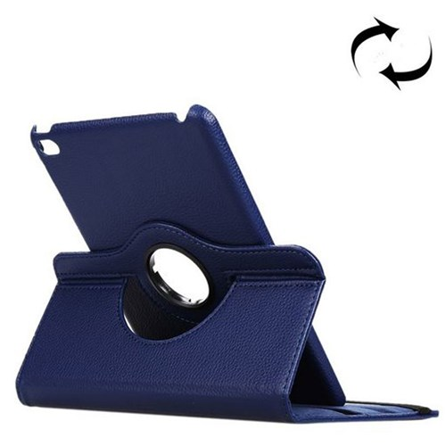 360° Rotatable Leather Case with Stand - iPad mini 4 Blue