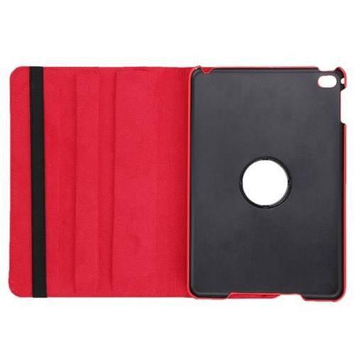 360° Rotatable Leather Case with Stand - iPad mini 4 Red