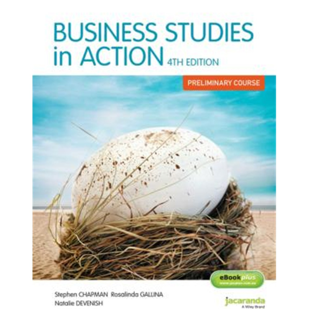 9780730309000 business studies in action preliminary 4e unit description