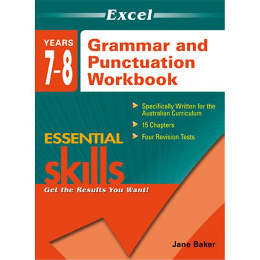Workbooks grammar and punctuation workbook : 9781741254112 - Excel Essential Skills Grammar & Punctuation ...