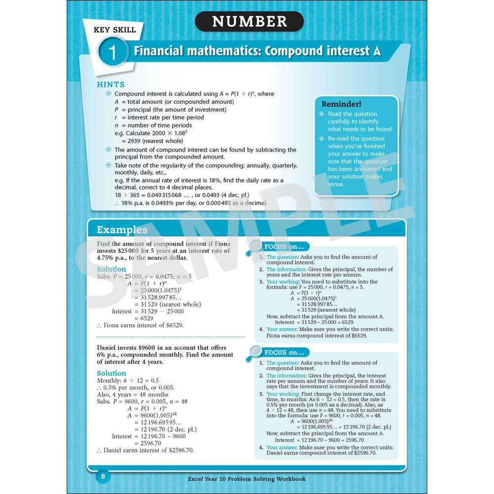 9781741255713 - Excel Essential Skills Problem Solving Workbook Year ...