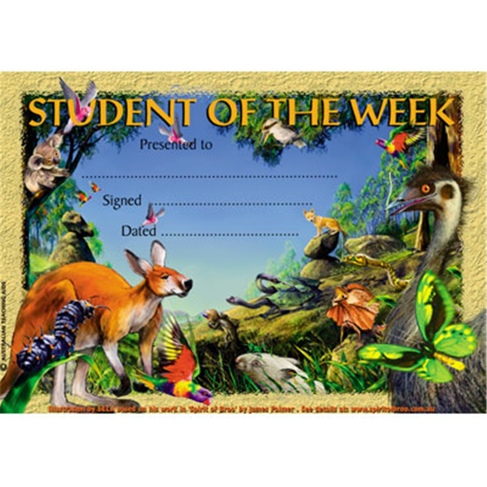 Sw383 merit certificate student of the week australian animals merit certificate student of the week australian animals zoom share this product xflitez Choice Image