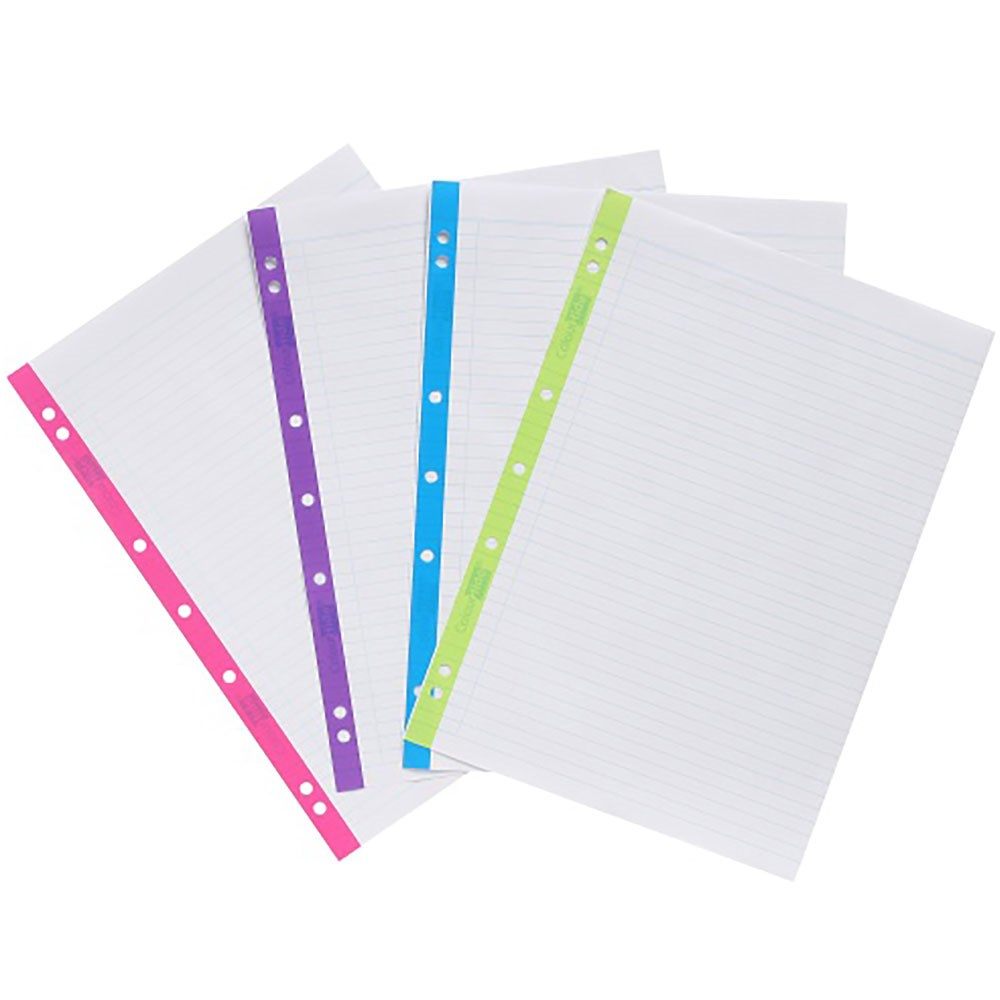 Zac187699 Colourhide Loose Leaf Refill Paper A4 7mm Coloured Edge Prev