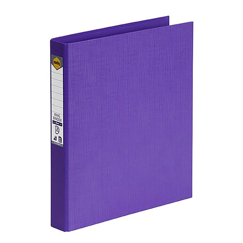 Marbig PE Linen Ring Binder A4 25mm 2D Purple