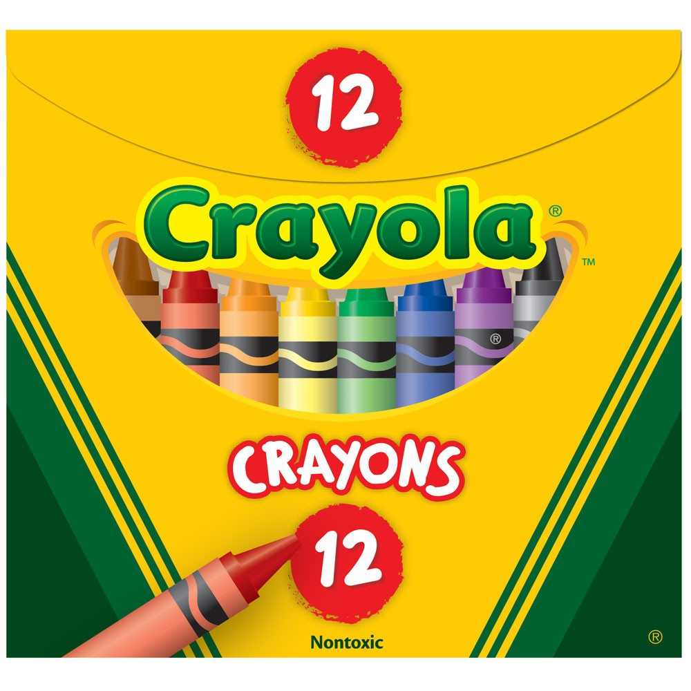ZCY52 12 - Crayola Tuck Box Crayons Regular Size 92 x 8mm ...