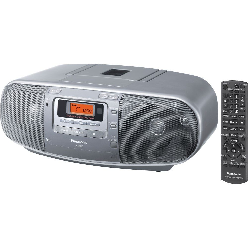 zparx d50 panasonic cd cassette radio player. Black Bedroom Furniture Sets. Home Design Ideas