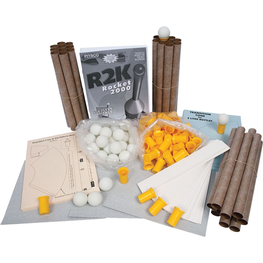 Water Bottle Rocket Materials: Pitsco R2K Water Rockets Class Pack Of 30