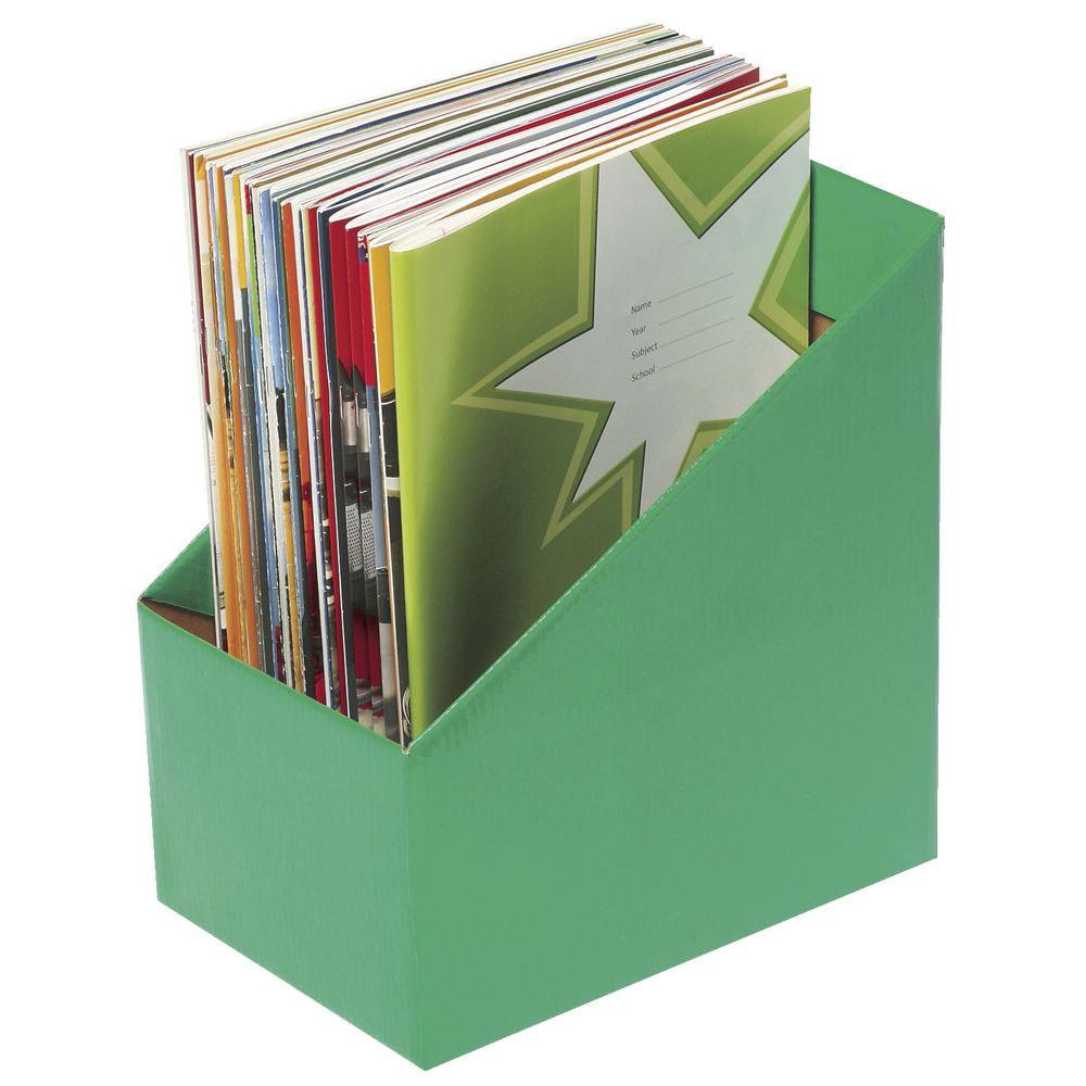 Zac8005804 Marbig Book Boxes Large Green Kookaburra